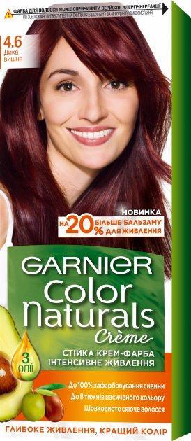 Крем-краска для волос Garnier Color Naturals, 4.6 Дикая вишня