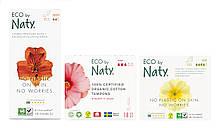 Органічний жіночий набір Eco by Naty (тампони Super + прокладки Super + щоденні прокладки Normal)