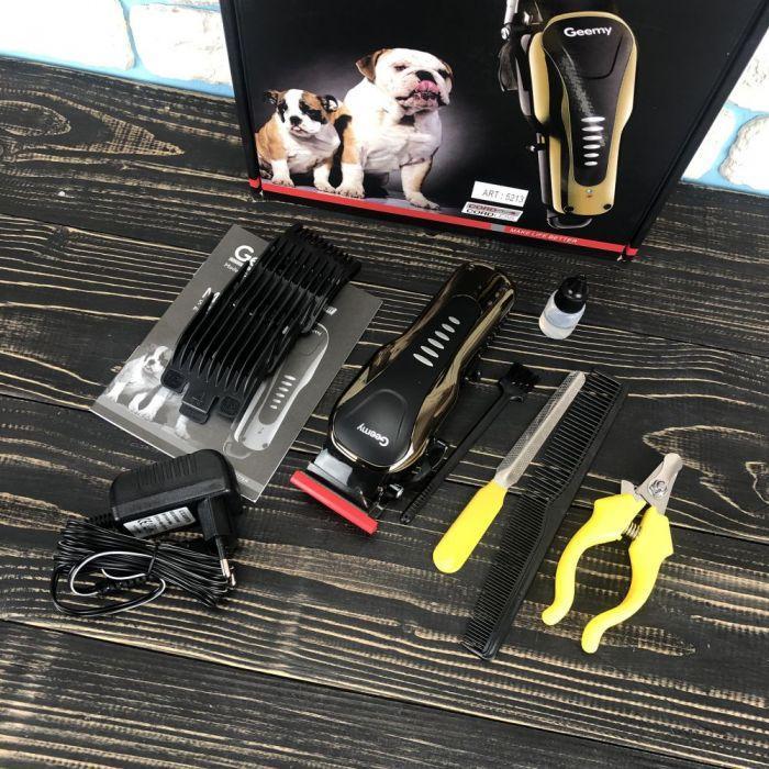 Машинка для стрижки тварин Geemy GM-6063 машинка для стрижки собак котів кішок машинка для грумінгу