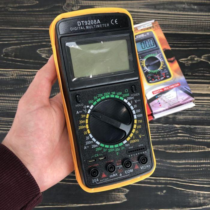Цифровой мультиметр с термопарой DT9208А тестер профессиональный для дома автомобиля с клещами токовые клещи