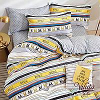 Комплект постельного белья Евро Сатин Twill 535