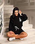 Женский костюм, турецкий кулир, р-р универсальный 42-46; 48-52 (чёрный), фото 2