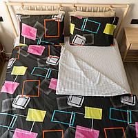 Комплект постельного белья KrisPol «Квадраты» 200x220 Сатин