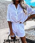 Женский костюм, турецкий лен, р-р 42-44; 46-48 (белый), фото 3
