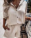 Женский костюм, турецкий лен, р-р 42-44; 46-48 (бежевый), фото 5