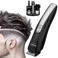 Машинка триммер для стрижки волос KEMEI KM-600 (11 В 1 + Подставка) Набор для стрижки волос,Работает триммер