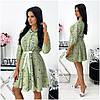 Сукня жіноча оливкова з куліскою на поясі АА/-11426