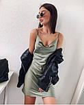 Коротке плаття-комбінація з шовку, фото 2