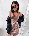 Коротке плаття-комбінація з шовку, фото 3