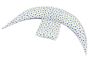 Nuvita Подушка для беременных 10 в 1 DreamWizard (белая с точками)