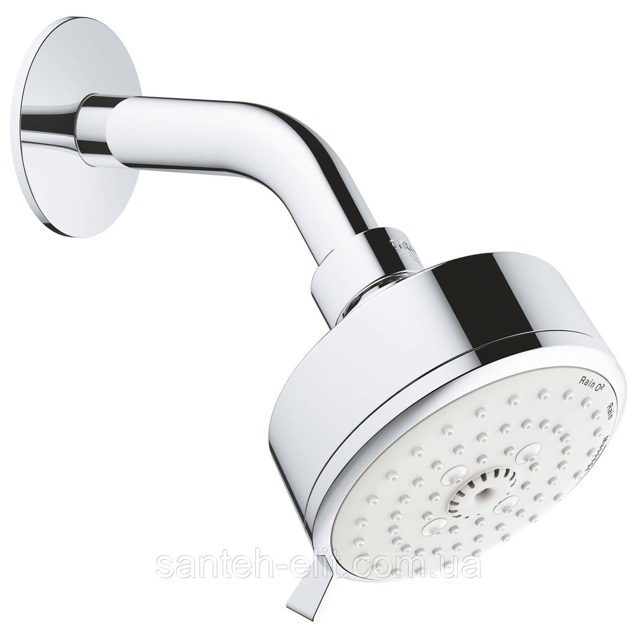 NEW Tempesta Cosmopolitan 100 верхній душ, душовий кронштейн, 3 режими струменя, хром