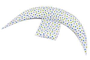 Nuvita Набор аксессуаров для подушки DreamWizard (наволочка, мини-подушка) Белый в точку
