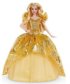Коллекционная кукла Барби Праздничная в золотом платье 2020 Barbie Holiday GNR92