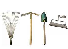 Набір садівника граблі, сапка-тризуб, лопатка посадкова, міцна сапа АЛВАНІ