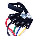 Эспандер трубчатый Forever (Набор из 5 штук) - Многофункциональный тренажер для фитнеса, рук, ног, ягодиц,, фото 3