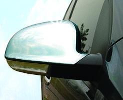 Volkswagen Sharan 1995-2010 рр. Накладки на дзеркала 2004-2010 (2 шт., нерж) OmsaLine - Італійська нержавійка