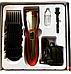 Машинка для стрижки волосся і бороди акумуляторна Gemei GM-6027+4 насадки гребеня, фото 4