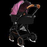 Универсальная коляска 3 в 1 Lionelo RIYA PINK VIOLET, фото 3