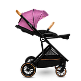 Універсальна коляска 3 в 1 Lionelo RIYA PINK VIOLET, фото 5