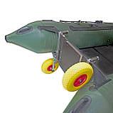Транцевые колеса КТ270STR-Poly (AISI 304) из нержавеющей стали для надувных лодок из ПВХ, фото 7