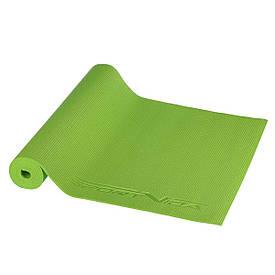 Коврик (мат) для йоги и фитнеса SportVida PVC 4 мм SV-HK0050 Green