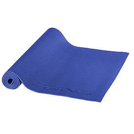 Коврик (мат) для йоги и фитнеса SportVida PVC 6 мм SV-HK0053 Blue