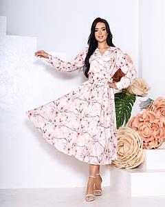 Платье миди с цветочным принтом 664 (ФР)