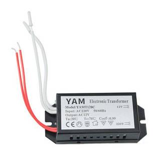 Трансформатор электронный 220В-12В 120Вт для галогенных ламп YAMT120C