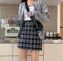 Стильная юбка в клетку шотландка, фото 3