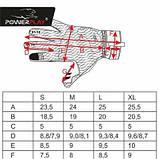Велорукавички PowerPlay 6551 Салатово-сірі M SKL24-144302, фото 9