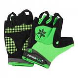 Велорукавички PowerPlay 5284 B Зелені M SKL24-144309, фото 4