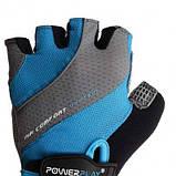 Велорукавички PowerPlay 5023 Блакитні S SKL24-144317, фото 2