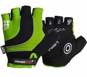 Велорукавички PowerPlay 5015 B Зелені M SKL24-144354
