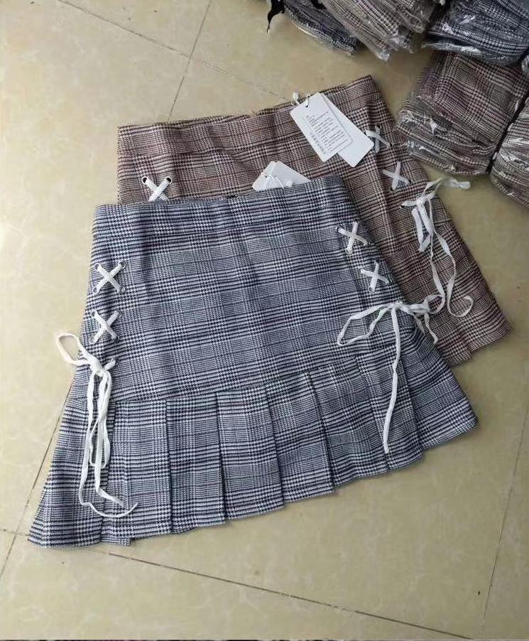 Стильная твидовая юбка в клетку шотландка