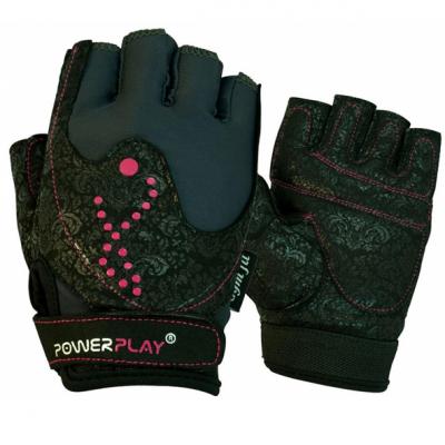 Рукавички для фітнесу PowerPlay 1744 Чорні XS SKL24-144434