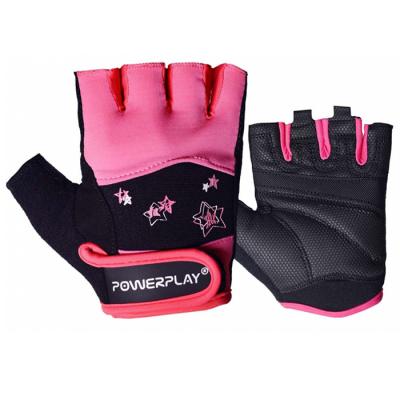Рукавички для фітнесу PowerPlay 3492 Чорно-Розові M SKL24-144445