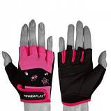 Рукавички для фітнесу PowerPlay 3492 Чорно-Розові M SKL24-144445, фото 2