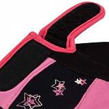 Рукавички для фітнесу PowerPlay 3492 Чорно-Розові M SKL24-144445, фото 4