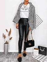 Женские стильные лосины из эко-кожи, фото 1