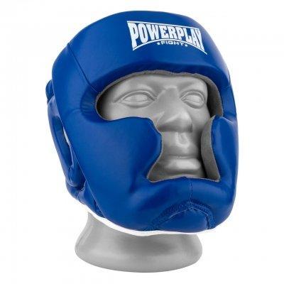Боксерський шолом PowerPlay тренувальний 3068 PU, Amara Синьо-Білий XS SKL24-144814