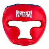 Боксерський шолом PowerPlay тренувальний 3068 PU, Amara Червоно-Синій M SKL24-144819, фото 2