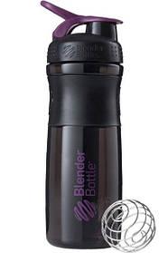 Пляшка-шейкер спортивна BlenderBottle SportMixer 820ml Black Plum SKL24-144857