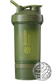 Шейкер спортивний BlenderBottle ProStak 650ml з 2-ма контейнерами Moss Green SKL24-144864