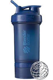 Шейкер спортивний BlenderBottle ProStak 650ml з 2-ма контейнерами Navy SKL24-144868