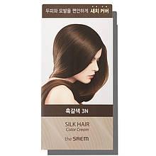 Крем-краска для волос The Saem Silk Hair Color Cream Gray Hair Cover Brown Black 60г + 60г (8806164149898)