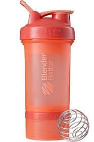 Шейкер спортивний BlenderBottle ProStak 650ml з 2-ма контейнерами Coral SKL24-144872