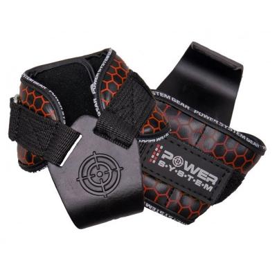 Крюки для тяги на запястья Power System Hooks V2 PS-3360 Black-Red L SKL24-145350