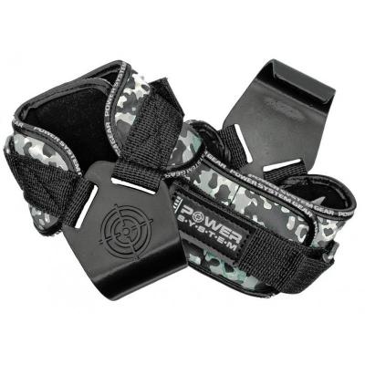 Гаки для тяги на зап'ястя Power System Hooks Camo PS-3370 Black-Grey XL SKL24-145354