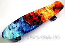 Скейт Penny Board з космічним принтом і світяться колеса для дітей і підлітків, фото 2