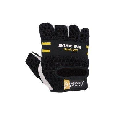 Рукавички для фітнесу і важкої атлетики Power System Basic Evo PS-2100 Black Yellow Line XS SKL24-145415